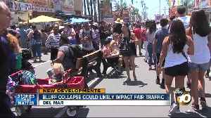 Bluff collapse could likely impact fair traffic [Video]