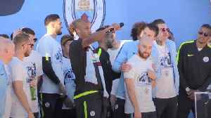 News video: Vincent Kompany mic drops his way out of Man City at victory parade