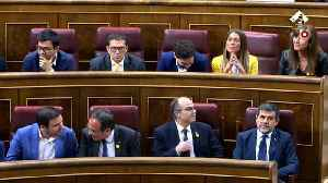 Imprisoned Catalan leaders sworn-in at Spanish Parliament [Video]