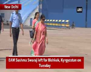 News video: EAM Swaraj leaves for Kyrgyzstan to attend SCO's Council of Foreign Ministers meeting