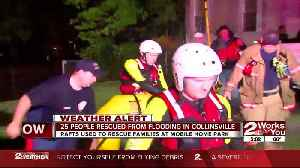 Water rescue at flooded trailer park in Collinsville [Video]