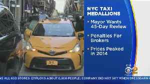 News video: De Blasio Orders Investigation On Taxi Medallions