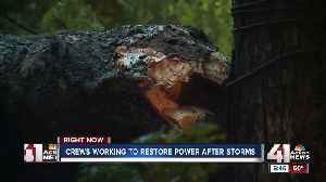Overnight storms down trees, cause power outages and minor flooding [Video]