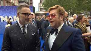 Elton John And David Furnish At The Fab London 'Rocketman' Premiere [Video]