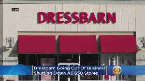 News video: Women's Clothing Chain Dressbarn To Close All Its 650 Stores