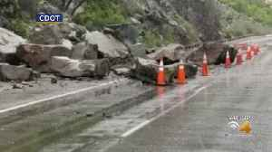 Rock Fall Closes I-70 In Glenwood Canyon [Video]