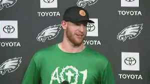 Eagles Quarterback Carson Wentz Speaks To Media Following First Day Of Organized Team Activities [Video]