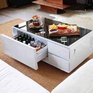 This futuristic coffee table has a built-in fridge [Video]