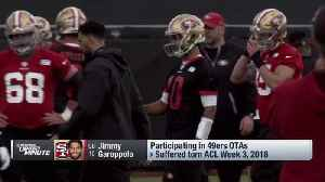 San Francisco 49ers quarterback Jimmy Garoppolo throws for first time at 49ers' 2019 OTAs [Video]