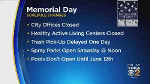 City Of Pittsburgh Announces Memorial Day Schedule Changes [Video]