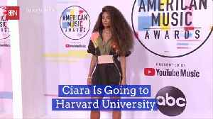 Ciara Takes Her Talents To The Ivy League [Video]