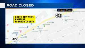 VIDEO: Route 422 West closed in Lebanon County because of dip in road [Video]