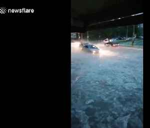Shocking storm submerges moving cars in Varna, Bulgaria [Video]
