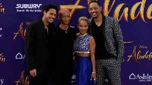 Will Smith, Jaden Smith, Jada Pinkett Smith, Trey Smith 'Aladdin' World Premiere Purple Carpet [Video]