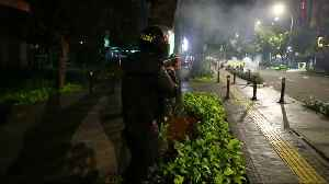 Indonesian police fire teargas on protestors [Video]