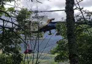 News video: Police Helicopter Rescues Woman Whose Car Fell 150 Yards Down Napa County Cliff