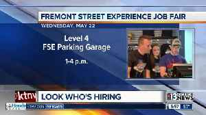 Fremont Street job fair happening today [Video]