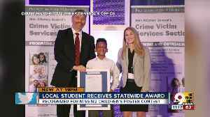 Local student a statewide Victim Assistance award winner [Video]