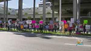 Pro-Choice Advocates Rally In Fort Lauderdale Outside Federal Courthouse [Video]