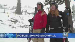 Squaw Valley Gets Over Two Feet Of New Snow In Past Week [Video]