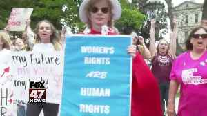Women rally at State Capitol to Stop The Bans On Abortions [Video]