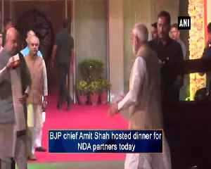 PM Modi, Rajnath Singh arrive for dinner hosted by Amit Shah for NDA partners [Video]
