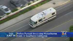Amazing Footage Shows High-Speed Police Chase Of Stolen Motor Home [Video]