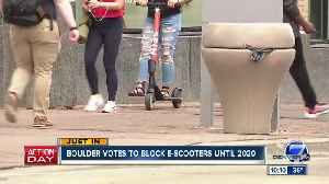 Boulder hits the brakes on e-scooters, passes 9-month citywide moratorium [Video]