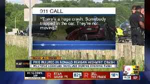 Panicked 911 calls describe scene of four-vehicle crash on Ronald Reagan Highway [Video]