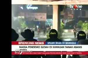 News video: Indonesian police fire teargas on protesters