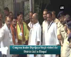 Digvijaya Singh visits EVM strong room in Bhopal amid row on voting machines [Video]