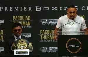 Pacquio will 'disappear', says his next opponent Keith Thurman [Video]