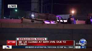 Fiery crash closes southbound I-25 at 58th Avenue, one person dead [Video]