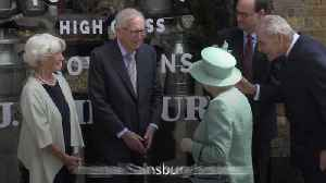 Queen marks 150 years of Sainsbury's with visit to replica store [Video]