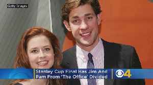 Stanley Cup Final Has Jim And Pam From 'The Office' Divided [Video]