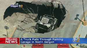 Truck Falls Through Parking Garage In North Bergen [Video]