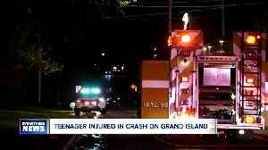 Teen crashes car into tree on Grand island [Video]