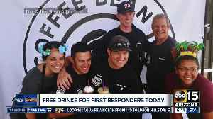 Coffee Bean and Tea Leaf gives free drinks to first responders [Video]