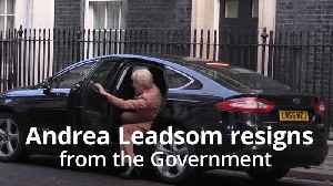 News video: Andrea Leadsom resigns from the Government