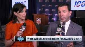 NFL Network Insider Ian Rapoport: 2022 NFL Draft being held open for bigger NFL cities [Video]