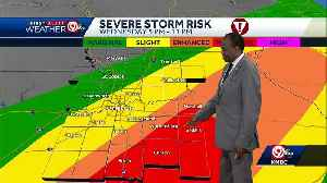 Strong to severe storms likely Wednesday, mainly southeast of KC [Video]