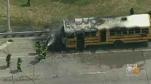 School Bus Fire On Staten Island Expressway [Video]