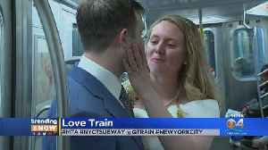 News video: Couple Gets Hitched On NYC Subway Train