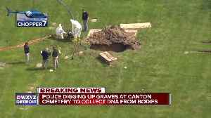 FBI, Detroit police dig for DNA samples at Canton cemetery in missing persons investigation [Video]