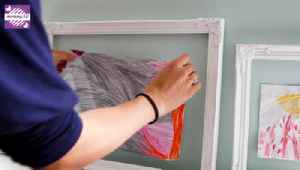 Super Cute Idea for Displaying Your Child's Artwork [Video]