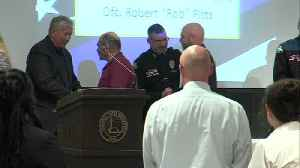 Fallen Terre Haute Police Officer Rob Pitts receives top honor during annual award banquet [Video]