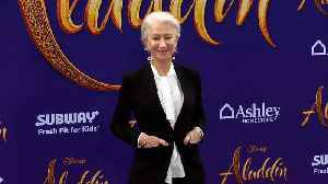 Helen Mirren 'Aladdin' World Premiere Purple Carpet [Video]