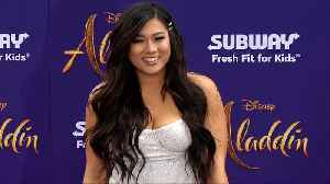 Remi Cruz 'Aladdin' World Premiere Purple Carpet [Video]