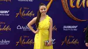Sarah Jeffery 'Aladdin' World Premiere Purple Carpet [Video]