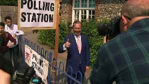 Nigel Farage casts vote in European election [Video]